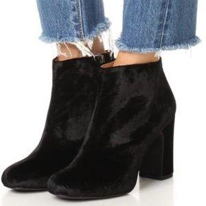 Madewell Black Lana Velvet Boots/Booties